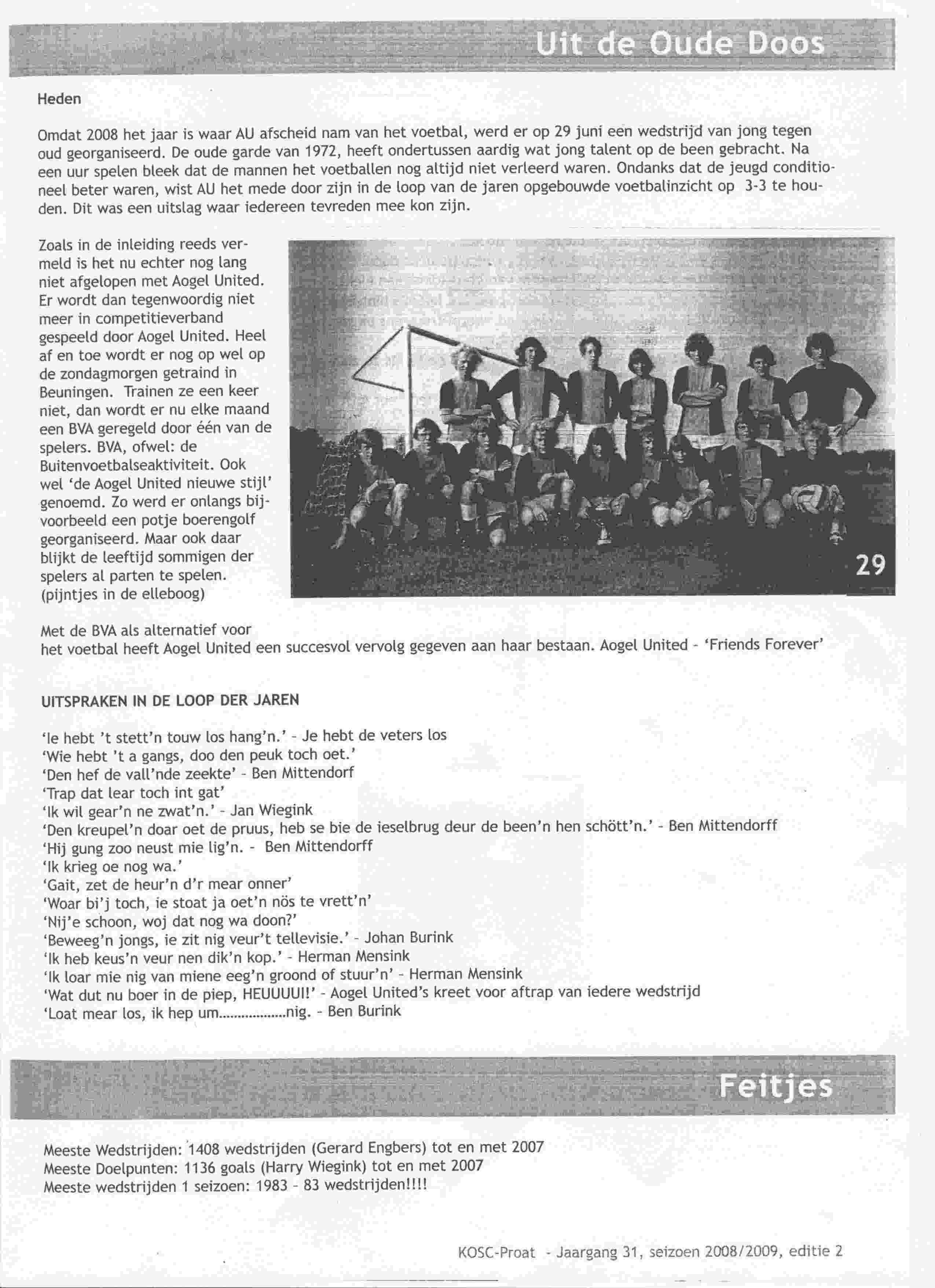 Artikel over Aogel United in KOSC-proat op 2009-01-01